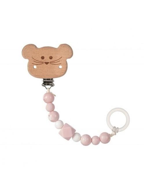 sujetachupetes-silicona-madera-mouse-rosa-lassig-olmitos-bebe-accesorios-puericultura-tienda-online-zaragoza