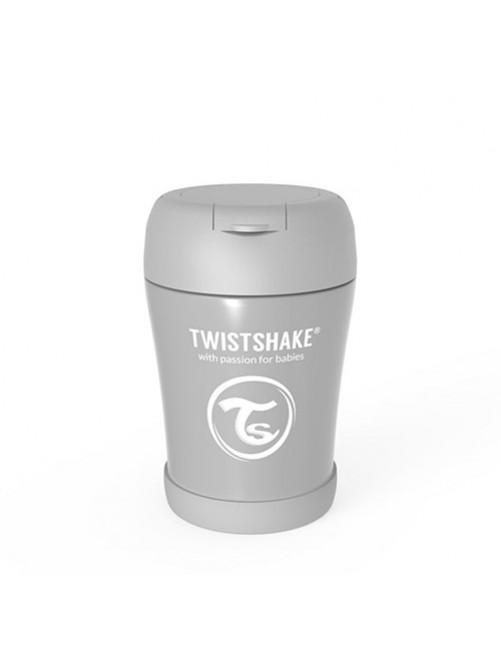 Termo-Twistshake-Solidos-Gris-350-Bebe-Accesorios-Alimentacion-Tienda-Puericultura-Online- Zaragoza