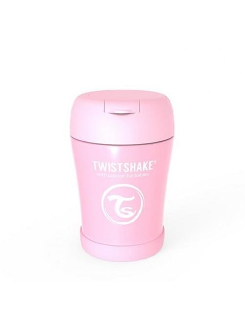 Termo-Twistshake-Solidos-Rosa-350-Bebe-Accesorios-Alimentacion-Tienda-Puericultura-Online- Zaragoza