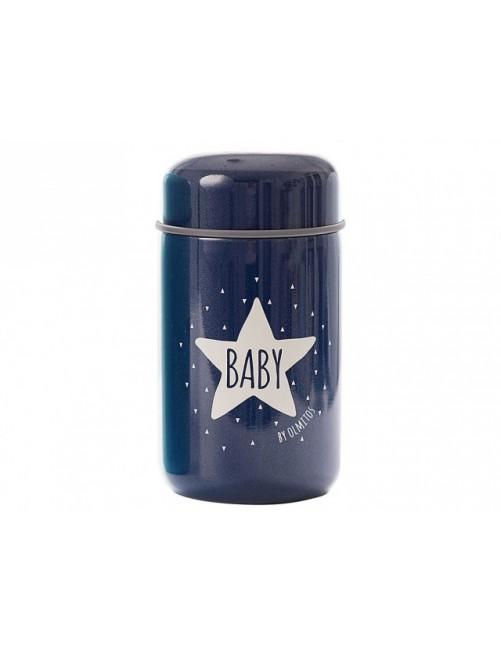 Termo Papillero Baby Star Blue Navy 400ml Olmitos Puericultura Comida Bebe solidos