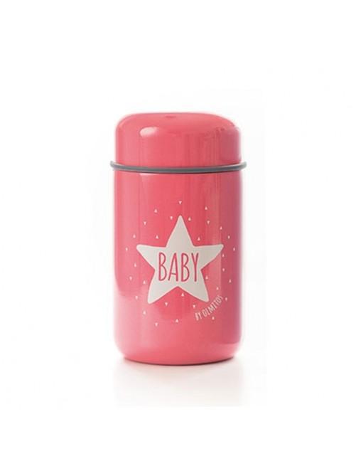 Termo Solidos Baby Star Pink 400ml Olmitos Puericultura Comida Bebe solidos