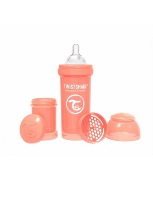Twistshake-Biberón-Anticólico-Beige-Pastel-330ml-Puericultura-tienda-zaragoza-bebes-lactacia-online