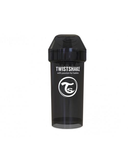 Vaso Aprendizaje Twistshake 360ml Negro Agua Bebe Antigoteo
