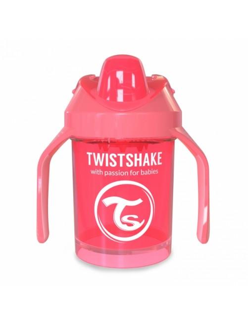 Vaso Aprendizaje Twistshake 260ml Coral neon
