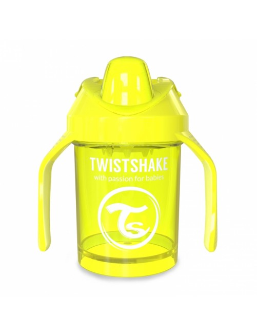 Vaso Aprendizaje Twistshake 260ml Amarillo neon yellow