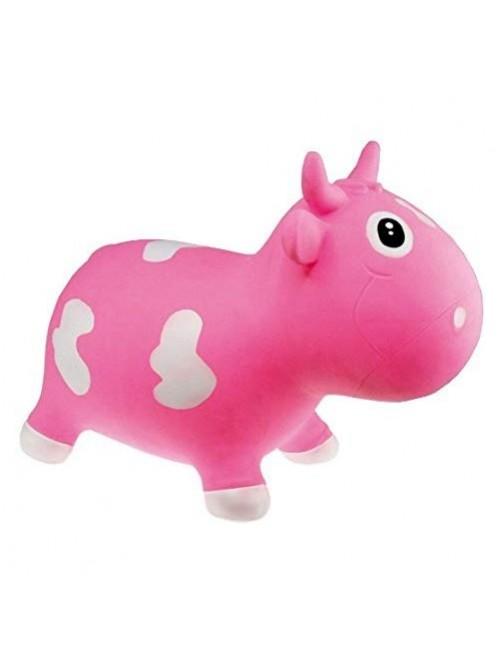 Vaca-Bella-Rosa-Kidzzfarm-juguete-niños-saltar-motricidad-puericultura-zaragoza-tienda-online