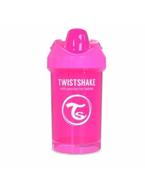 Vaso Aprendizaje Twistshake 300ml Rosa fucsia Agua Bebe Antigoteo