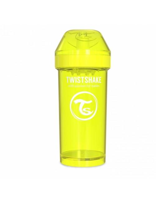 Vaso Aprendizaje Twistshake 360ml Amarillo Agua Bebe Antigoteo