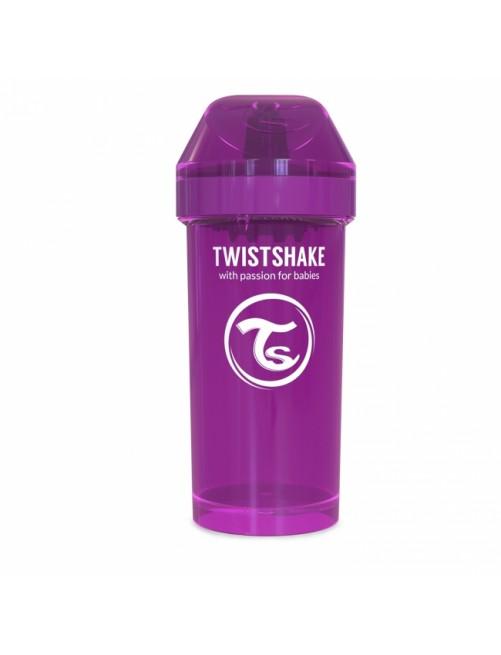 Vaso Aprendizaje Twistshake 360ml Lila Agua Bebe Antigoteo