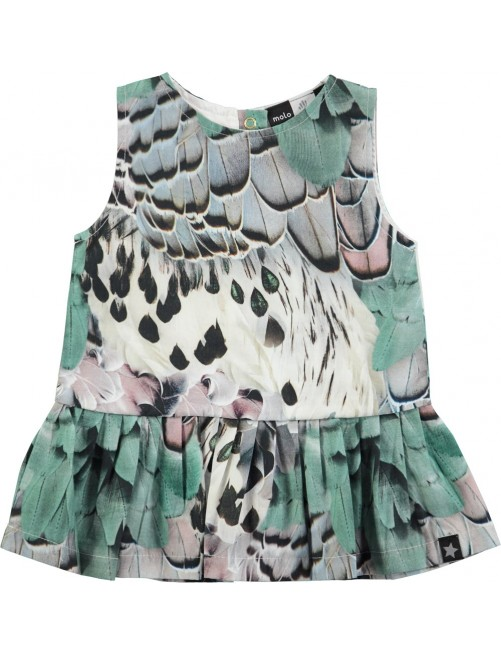 Vestido Molo Kids Cai Rooster Feathers