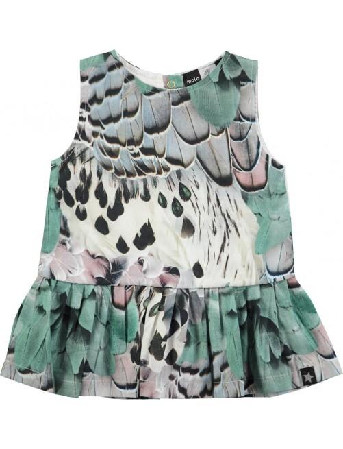 Vestido Molo Kids Cai Rooster Feathers