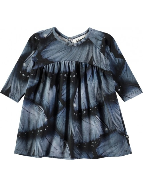 Vestido Molo Kids Carlys Velvet Wings Jersey Moda Infantil Zaragoza Niñas Tienda Online