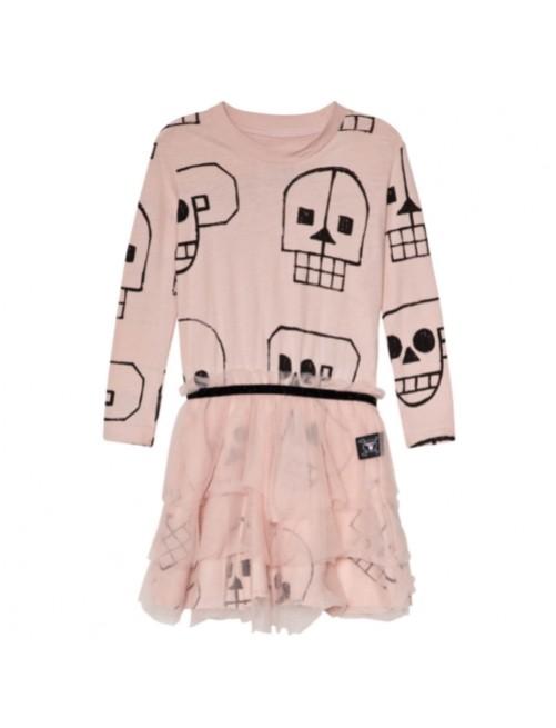 Vestido_Nununu_Skull_Robot_Tulle_Dress_Powd_Pink_Niños_Moda_Infantil_Alternativa_Tienda_Online_Zaragoza_Estilo_Dappbaby