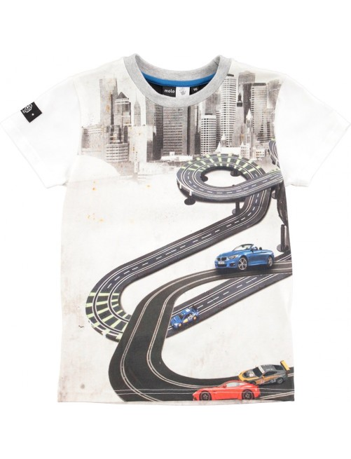 Camiseta Molo Kids Raven Race Track