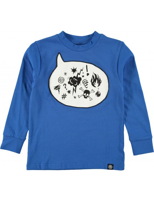 Camiseta Molo Kids Renshaw Super Blue