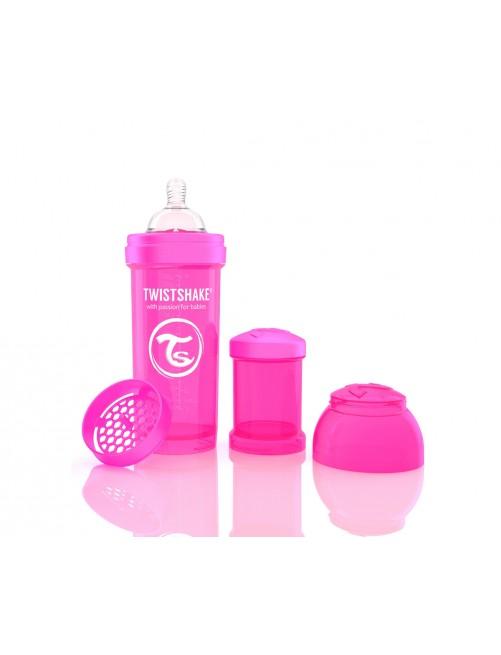 Twistshake Biberón Anticólico Rosa 260ml
