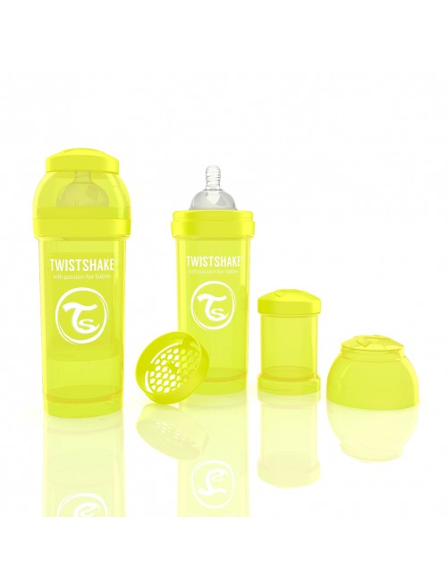 Twistshake Biberón Anticólico Amarillo 260ml