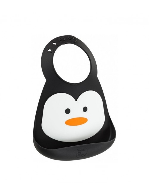 Babero Silicona Make My Day Pingüino