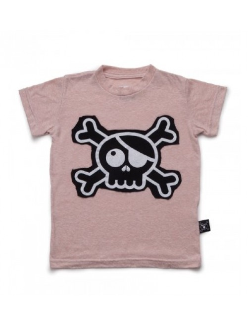 Camiseta Nununu Skull Patch Powder Pink