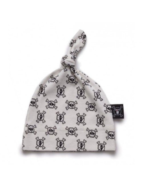Gorro Nununu Mini Skull Hat White