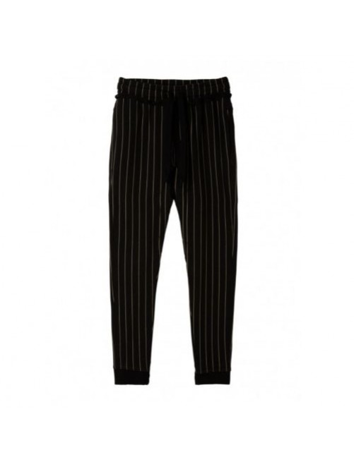 Pantalon Jogger Pinstripe 10Days Black