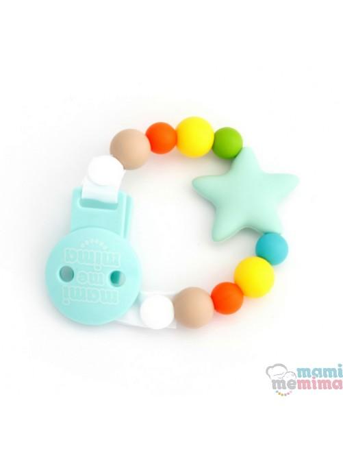 Sujetachupetes Mordedor Silicona Mami Me Mima Star Multicolored
