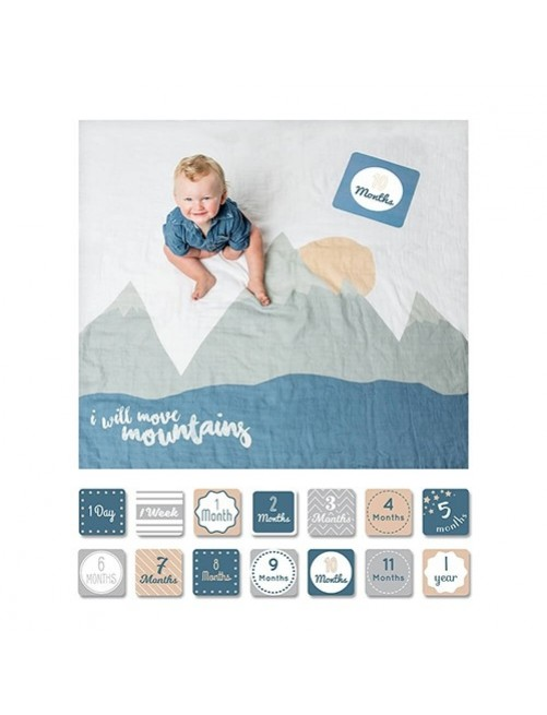 Muselina algodón Set Baby I Will Move Mountains Lulujo