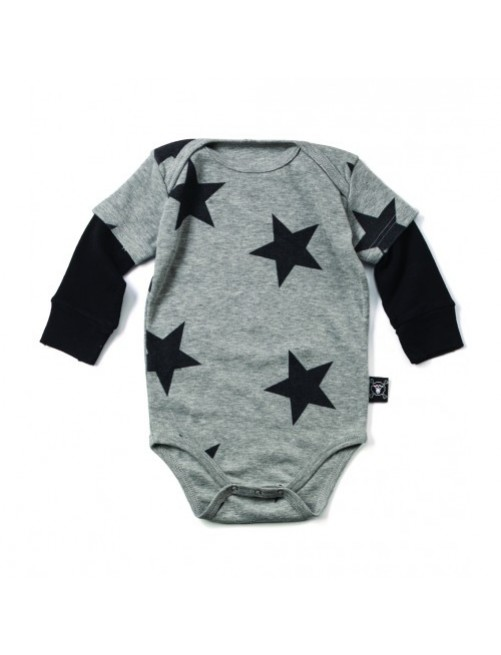 Body Nununu Star Onesie manga larga gris