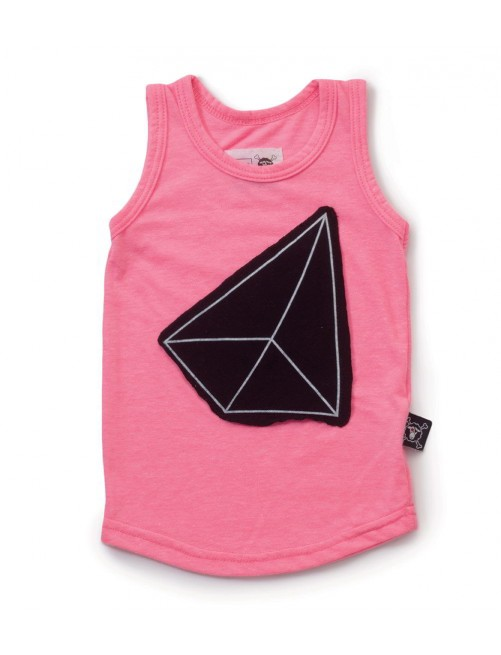 Camiseta Nununu Geometric Patch Tank Top Pink