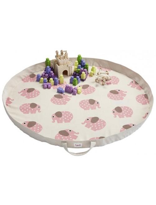 Play Mat Bag 3 Sprouts Elefante Rosa