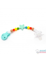 Sujetachupetes Mordedor Silicona Mami Me Mima Star Multicolored 1 bebe