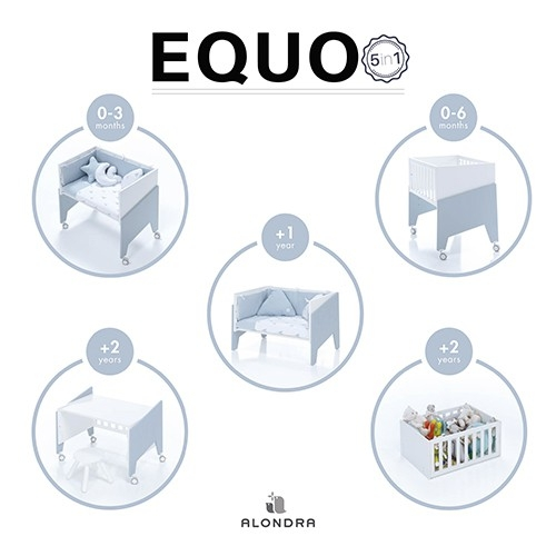 Minicuna Equo Alondra 5 en 1 bebes  accesorios dormir tienda online zaragoza