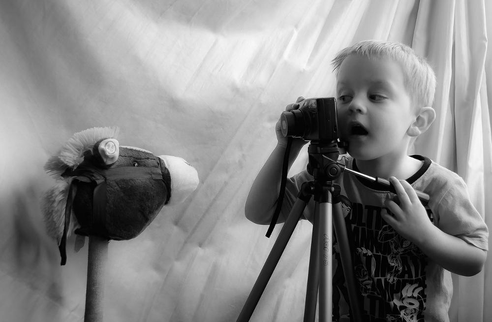 niños fotografos
