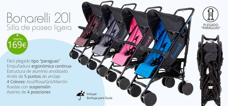 Bonarelli silla ligera bebe paseo puericultura accesorios bebe plegado paraguas tienda online Zaragoza